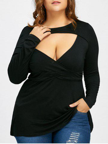 Shop Empire Waist Plus Size Low Cut T-shirt