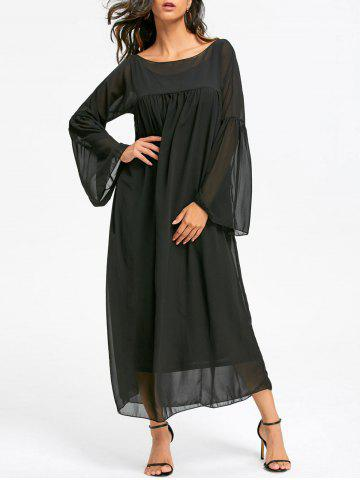 Shop Empire Waist Floor Length Flare Sleeve Chiffon Dress