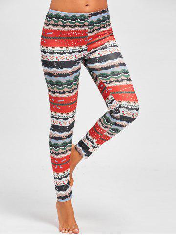 Discount Snowflake Tree Printed Christmas Leggings