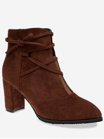 Latest Pointed Toe Criss Cross Short Boots