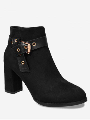 Buy Ankle Buckle Strap Side Zipper Boots