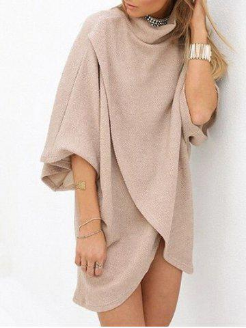 Buy Turtleneck Shift Tulip Dress