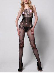 Fishnet Backless Slip Bodystockings -