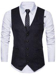 Ceinture Design V Neck Button Up Gilet -