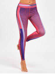 Colorful Striped Funky Gym Leggings -