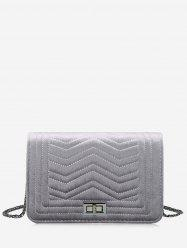 Zigzag Stitching Quilted Crossbody Bag -