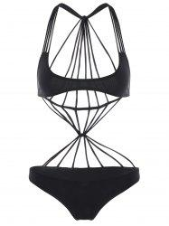 Strappy Bralette One Piece Swimsuit -