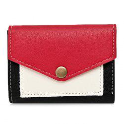 Color Block Bi Fold Wallet -