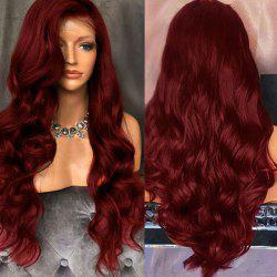 Long Free Part Shaggy Body Wave Lace Front Synthetic Wig -