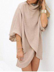 Turtleneck Shift Tulip Dress -