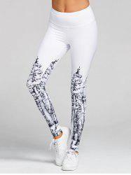 Christmas Tree Print High Waist Skinny Leggings -