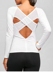 Sports Back Criss Cross T-shirt à découpes -