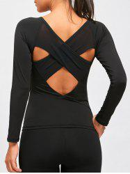 Sports Back Criss Cross Cutout T-shirt -