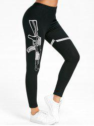 Graphic Skinny High Waisted Leggings -