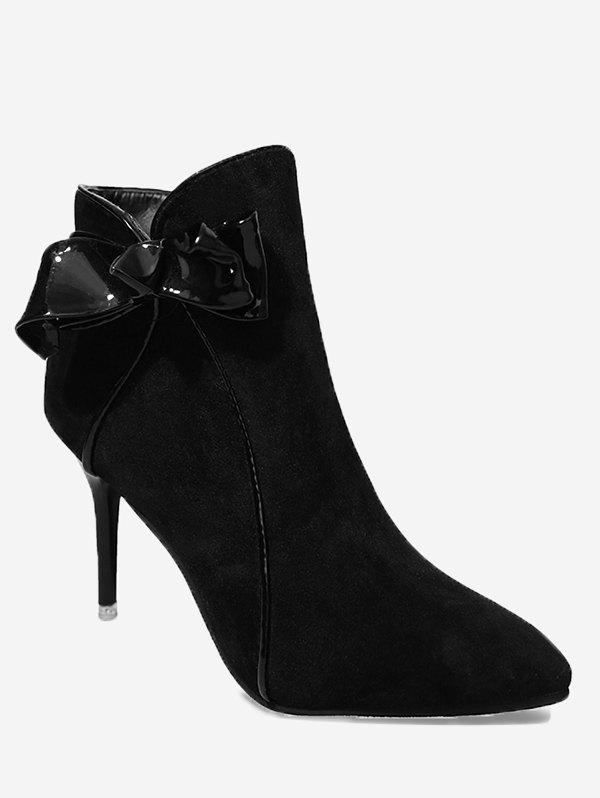 Shop Ankle Stiletto Heel Bow Boots