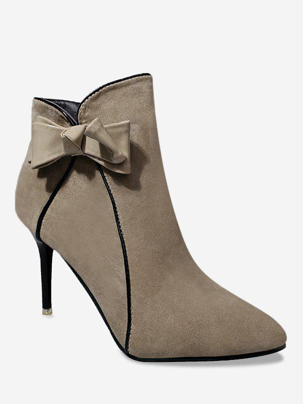 Cheap Ankle Stiletto Heel Bow Boots