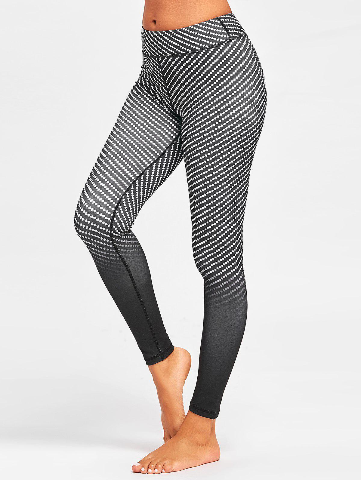 Chic Fitness Argyle Printed Ombre  Leggings