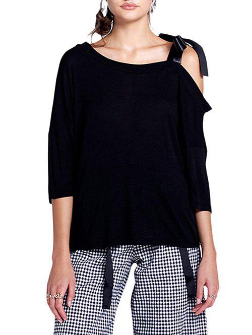 Store Cold Shoulder Batwing Sleeve Top