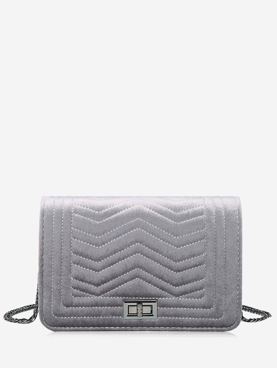 Sale Zigzag Stitching Quilted Crossbody Bag