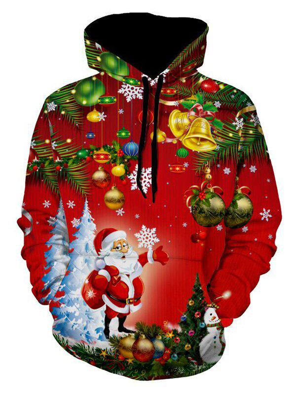 Christmas Tree Santa Jingle Bells Christmas HoodieMEN<br><br>Size: M; Color: RED; Material: Polyester; Clothes Type: Hoodie; Shirt Length: Regular; Sleeve Length: Full; Style: Fashion; Patterns: Cartoon,Print; Thickness: Regular; Occasion: Casual ,Daily Use,Going Out,Sports; Weight: 0.5400kg; Package Contents: 1 x Hoodie;