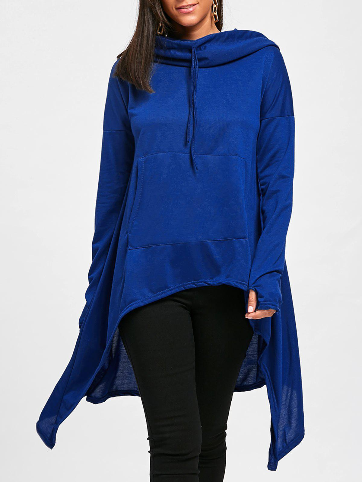 Shop Oversized Drawstring High Low Long Hoodie