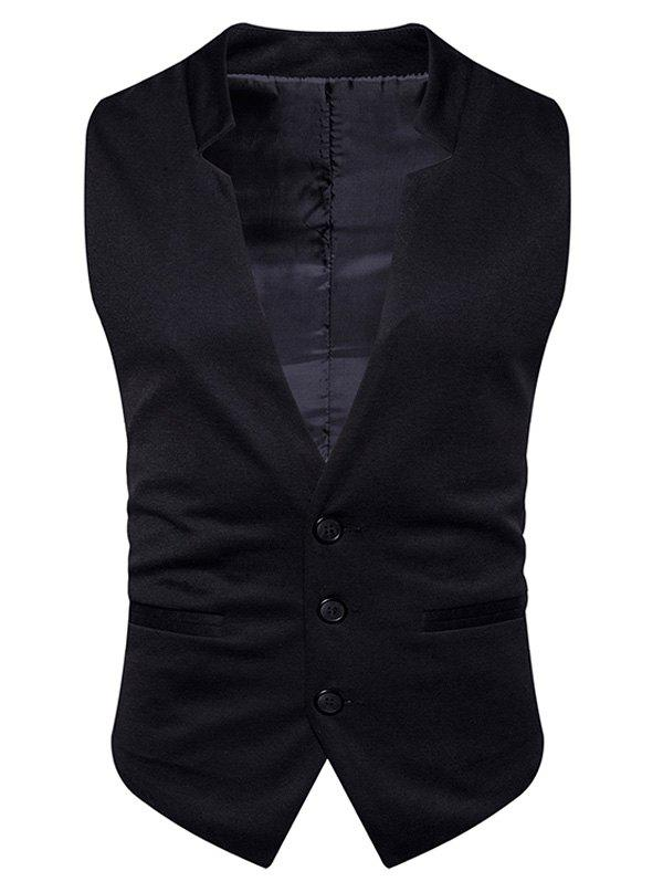 Outfits Edging V Neck Single Breasted Waistcoat