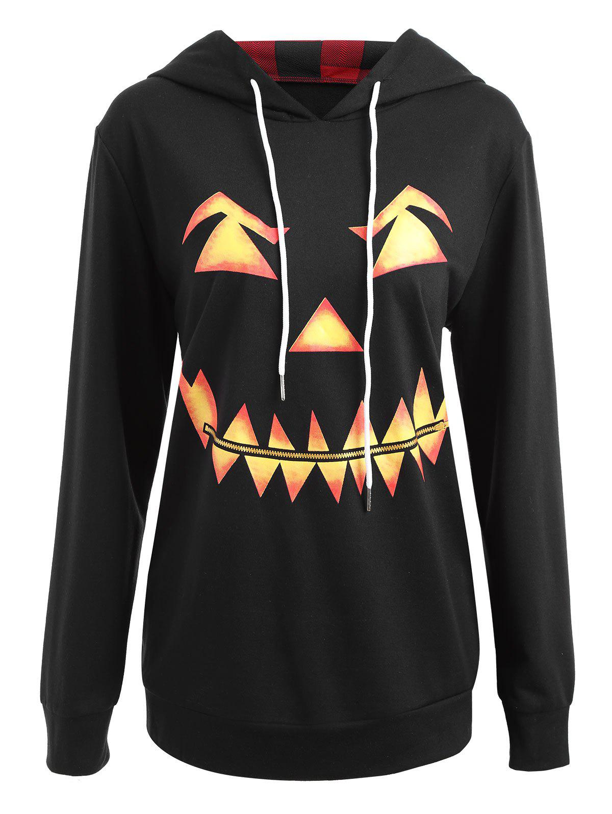 Fancy Halloween Plus Size Pumpkin Face Funny Sweatshirt