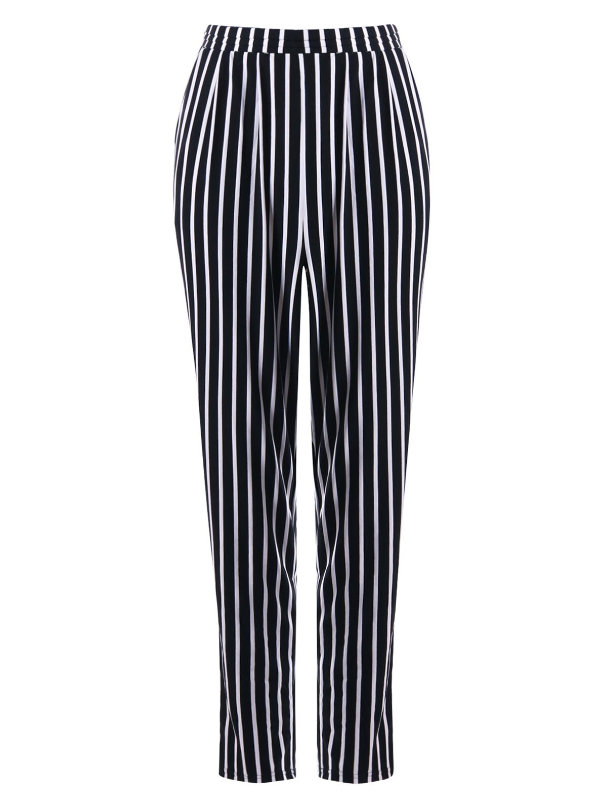 Affordable Stripe Print Tapered Pants
