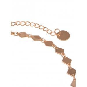 Geometric Design Round Chain Choker Necklace -