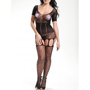 Scoop Neck Fishnet Bodystockings -