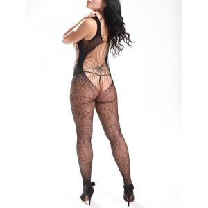 Spider Web Backless Fishnet Bodystockings -