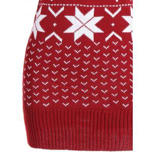 Deer Maple Leaf Tunic Christmas Sweater -