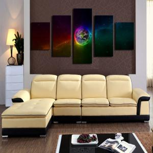 Unframed Galaxy Earth Pattern Canvas Paintings -