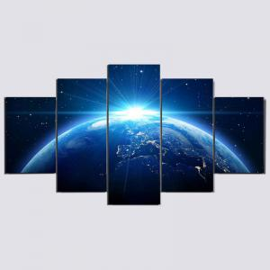 Universal Earth Printed Unframed Canvas -
