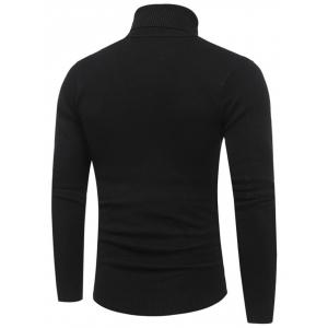 Panel Design Roll Neck Sweater -