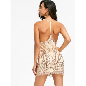 Night Out Backless Sequins Cami Dress - GOLDEN S