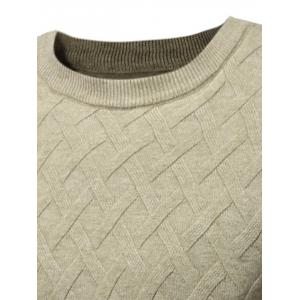 Crew Neck Net Pattern Sweater -