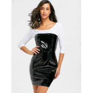 Bandeau Latex Bodycon Dress - Noir L