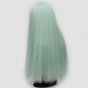 Perruque synthétique Lolita Cosplay Long Full Bang fluide - Fluorescente Verte