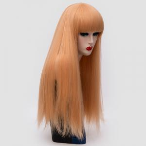 Long Full Bang Fluffy Straight Lolita Cosplay Synthetic Wig -