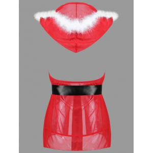Hooded Feather Christmas Costume -