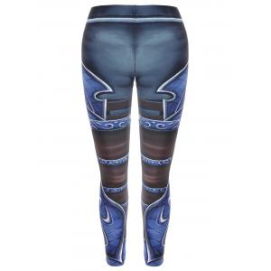 Printed Skinny High Waisted Leggings - COLORMIX ONE SIZE