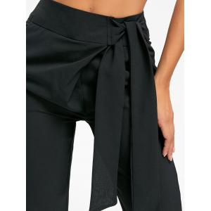 Tie Up High Wasited Pants - BLACK L