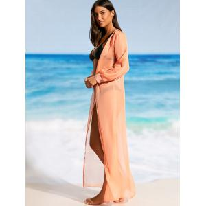 Flowy Maxi Wrap Cover Up Dress -