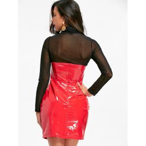 Bandeau Latex Bodycon Dress -