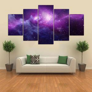 Starry Sky Print Canvas Wall Art Painting -