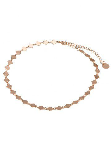Shop Geometric Design Round Chain Choker Necklace