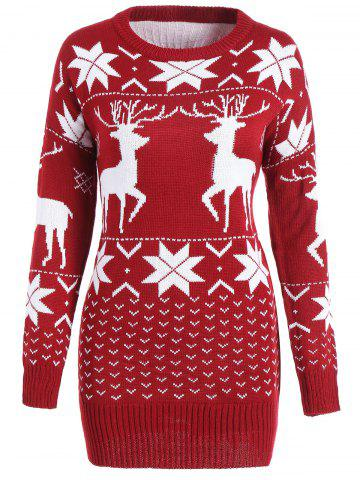 Best Deer Maple Leaf Tunic Christmas Sweater