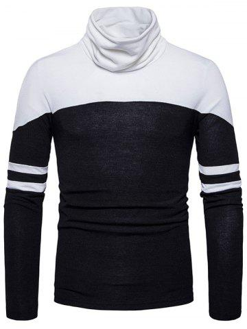 Buy Color Block Cowl Neck Varsity Stripe Sweater