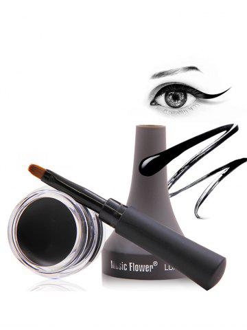 Outfits Smudge-Proof Long Lasting Gel Eyeliner With Brush BLACK